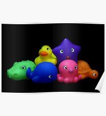 Bubble Bath Friends Poster