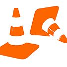 Traffic road cones safety pylons Whitc hat markers 2 by SofiaYoushi