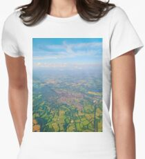 England from above Women's Fitted T-Shirt