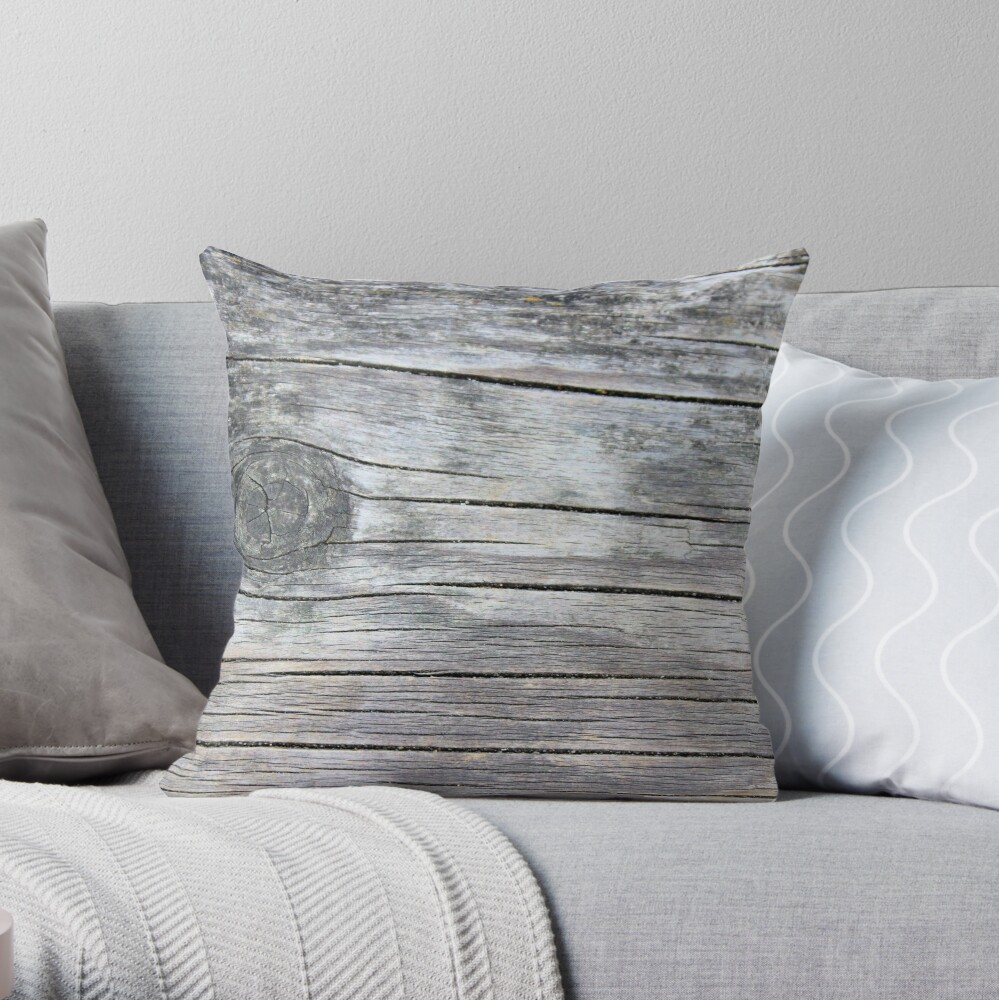 Knotted wood Throw Pillow