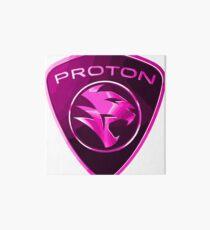 Proton Power - Pink Proton Car Badge Art Board