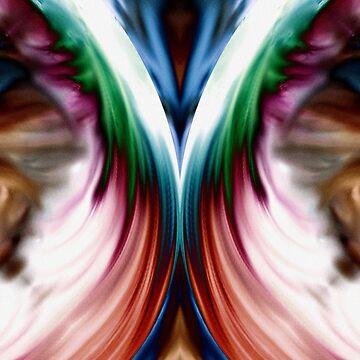 Whirlwind Rainbow Golden Snow Mirror by xzendor7