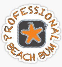 Professional Beach Bum Sticker