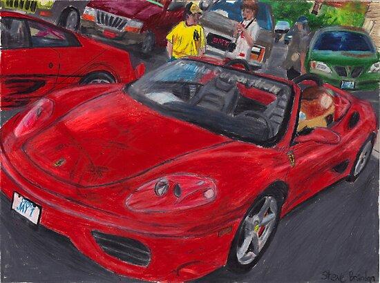 A coloured pencil drawing of a Ferrari 360 Spider. by SteveBrandon