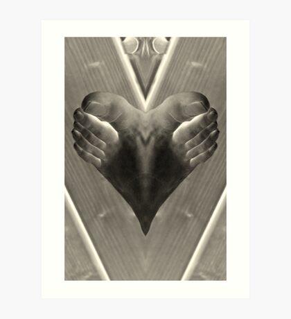 Feets Of Heart Art Print