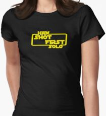 Shot First Women's Fitted T-Shirt