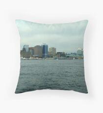 Waiting for the Sailpast-Halifax Throw Pillow