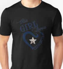 This Girl Loves Cowboys Dallas Texas Design4 Slim Fit T-Shirt