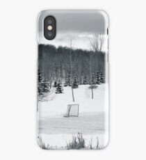 Black and White Pond Hockey iPhone Case/Skin