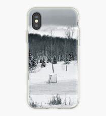 Black and White Pond Hockey iPhone Case