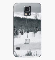 Black and White Pond Hockey Hülle & Skin für Samsung Galaxy