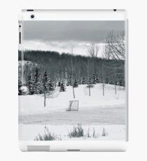 Vinilo o funda para iPad Hockey sobre charco en blanco y negro