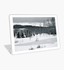 Vinilo para portátil Hockey sobre charco en blanco y negro