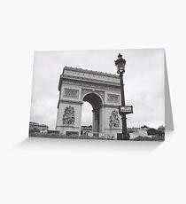 L'Arc de Triomphe b&w, Paris, France Greeting Card