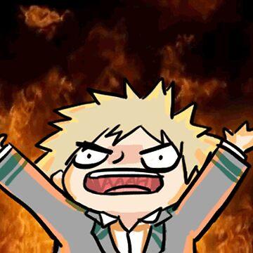Katsuki Bakugo rage by animemangaking