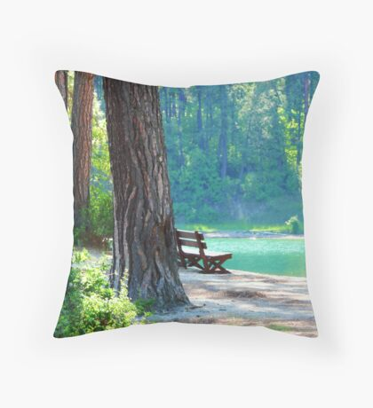 Buttonhook Bay Hideaway Throw Pillow