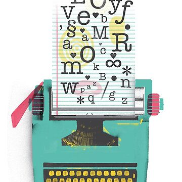 AMOR Typewriter by franciscomartns