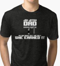 JIU JITSU DAD Father | Daughter T SHIRT Tri-blend T-Shirt
