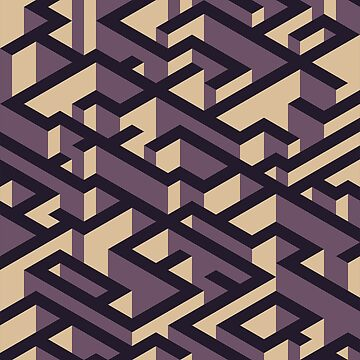 Isometric Purple Maze Pattern by Rosenburg