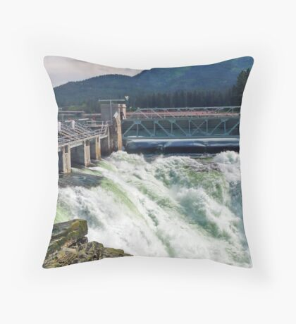Post Falls Dam Throw Pillow