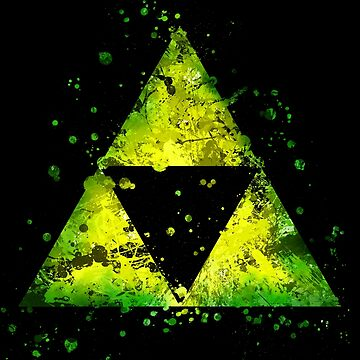 Tri-Force Alt - Splatter  by jsumm52