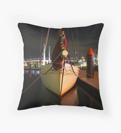 Calm at Docklands Throw Pillow