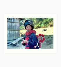 Mien mother and baby  Art Print