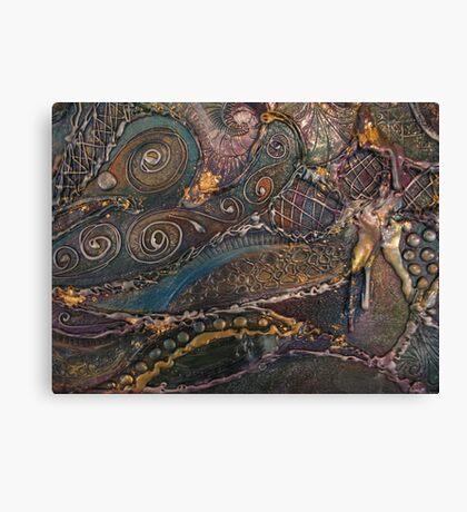Organic Metalic Canvas Print