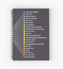 Cuaderno de espiral Hello Nasty Tracklist