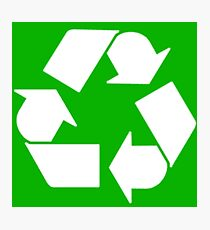 Leonard's Recycling Symbol Photographic Print