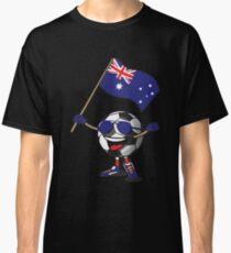 Australia Football Team Soccer Ball With National Flag Fan Shirt Classic T-Shirt