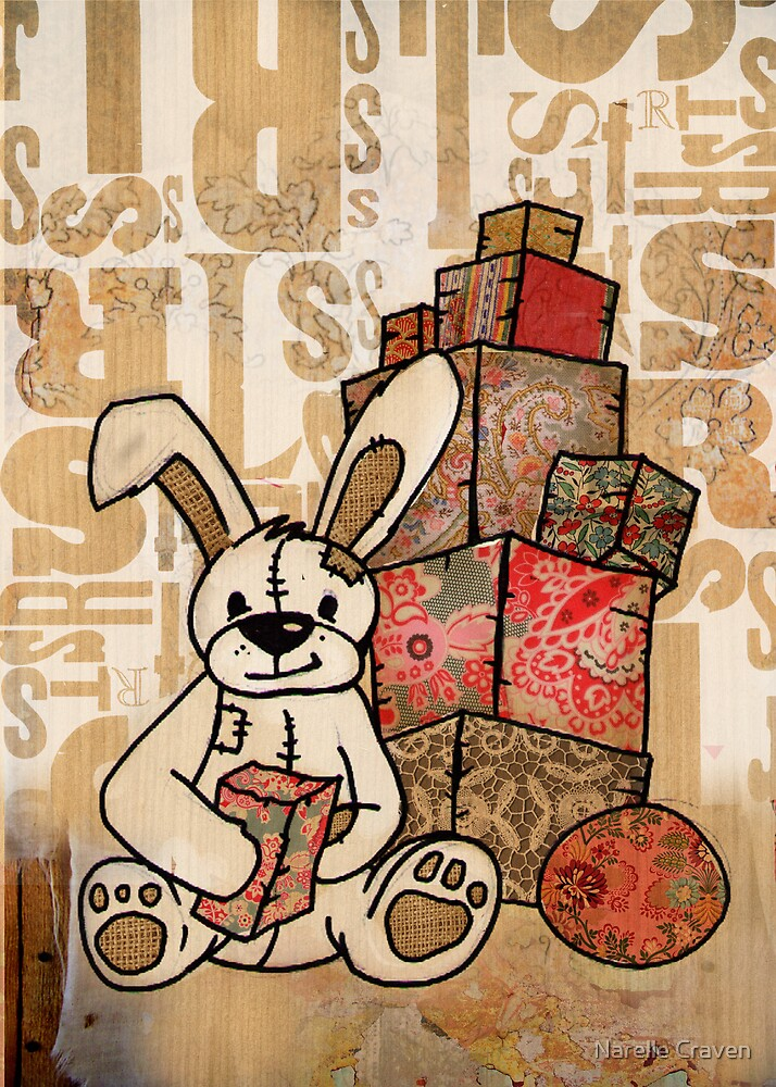 patch bunny by Narelle Craven