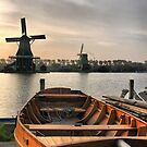 Windmills of Volendam (7) by Larry Davis