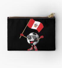 Peru Football Team Soccer Ball With National Flag Fan Shirt Studio Pouch