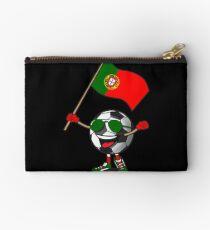 Portugal Football Team Soccer Ball With National Flag Fan Shirt Studio Pouch