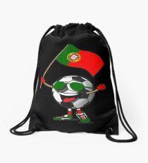 Portugal Football Team Soccer Ball With National Flag Fan Shirt Drawstring Bag