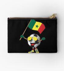 Senegal Football Team Soccer Ball With National Flag Fan Shirt Studio Pouch