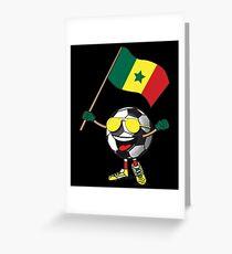 Senegal Football Team Soccer Ball With National Flag Fan Shirt Greeting Card