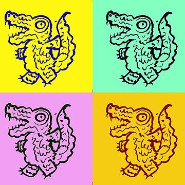 Colourful Pop Art Style Alligators by mydragonzeatyou