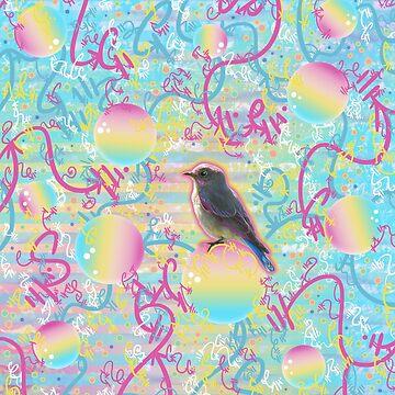 Summery Bubbly Bird by vanillakirsty