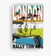 London Scooter Rally Canvas Print