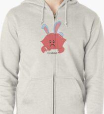 Krebs-Kaninchen Hoodie mit Reißverschluss