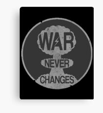Fallout War Never Changes Canvas Print