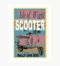 Isle of Writer Scooter Rally Art Print