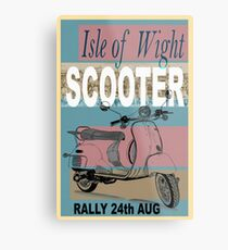 Isle of Writer Scooter Rally Metal Print