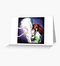 Spirited Away - Chihiro & Haku Greeting Card