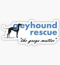 Greyhound Rescue Logo #2 Sticker