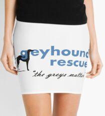 Greyhound Rescue Logo #2 Mini Skirt