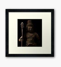 Angkor Wat Cambodia - Warrior  Framed Print