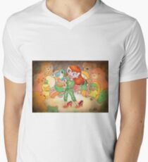 Teddy Bear Masquerade V-Neck T-Shirt